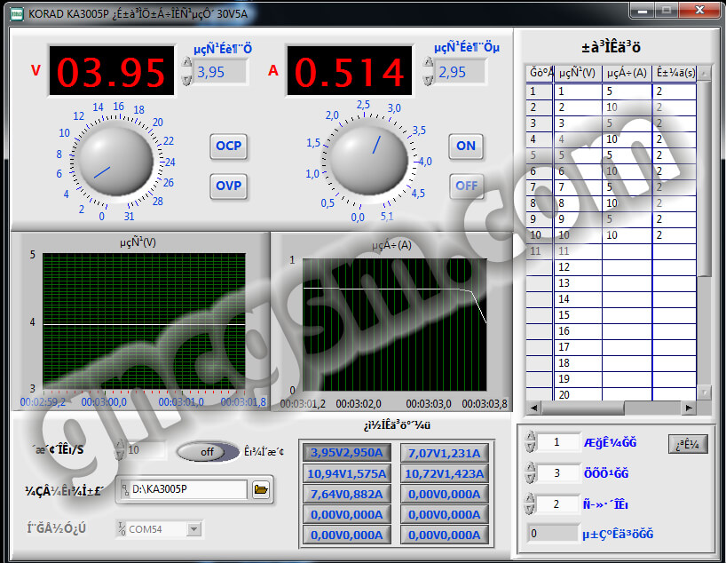 Korad ka3005p usb drive & software
